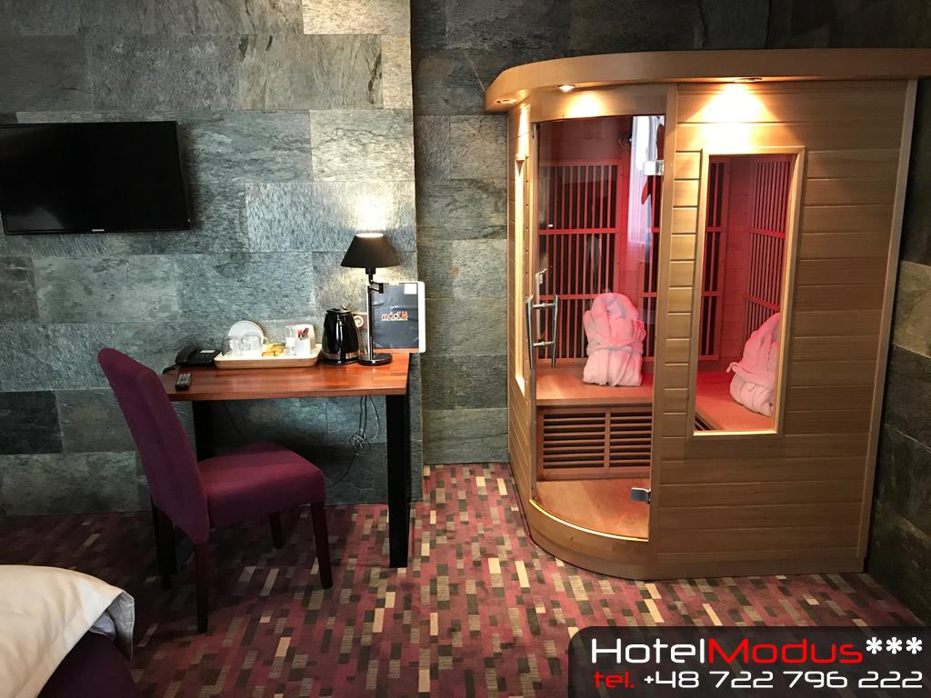 Hotel Modus *** Sauny w pokojach